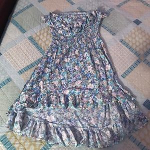 Floral strapless dress 👗